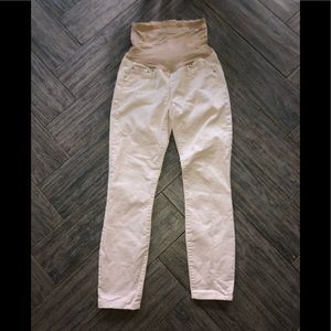 Gap maternity authentic true skinny cream jeans 2